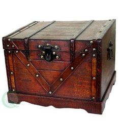 Wooden Treasure Box, I'd love for my hubby to build this for my treasures!