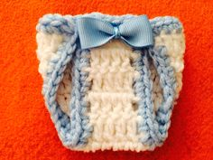 Handmade Crochet Favors Little Diaper For Baby Shower Or Baptism