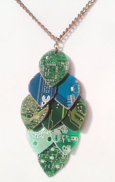 Circuit Board Scaling Necklace by RemixEverything on Etsy, $22.00
