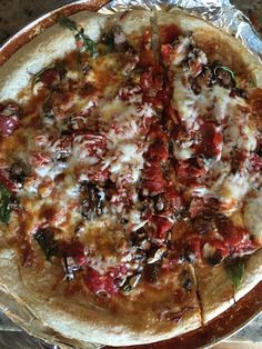 Ancient Roman pizza on the stone oven tonight!