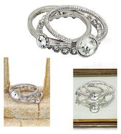 """""""Fashion white crystal assemble silver ring"""" by oceanfashion on Polyvore"""