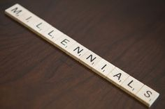 Millennials Spelled Out in Scrabble Tiles