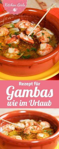Rezept für Gambas wie im Urlaub - Gambas Pil Pil aus Palma
