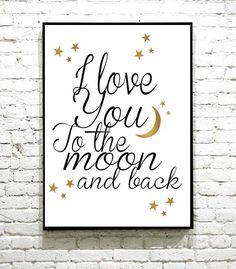 Verdens søteste plakat til verdens søteste lille gutt/jente I Shop, Moon, The Moon