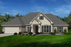 European Style House Plan - 4 Beds 2.5 Baths 2380 Sq/Ft Plan #430-129 Exterior - Front Elevation - Houseplans.com