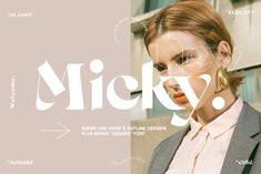 Micky - Regular + Outline & Bonus by Madebysté Studio on @creativemarket Typography Fonts, Graphic Design Typography, Logo Design, Design Web, Design Ideas, Fancy Fonts, Cool Fonts, Paint Font, Minimalist Font