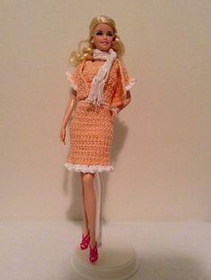 Ravelry: Peaches and Cream Barbie suit pattern by Tess Tortorella