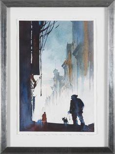 """Thomas W Schaller - """"Morning man - Mexico"""" finns att köpa hos oss på Galleri Melefors / is available for purchase at Galleri Melefors #thomaswschaller #schaller #art #aquarelle #painting #interiordesign #design #colors #street #mexico #man #darkness #forsale #konst #tavla #interiör #fäger #mörker #dunkel #mexiko #tillsalu #gallerimelefors #melefors"""