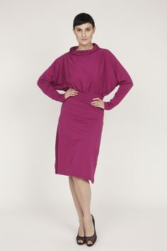 Kleid Kayanga / Bio-Baumwolle / magenta von HYPNOSIS-berlin auf DaWanda.com
