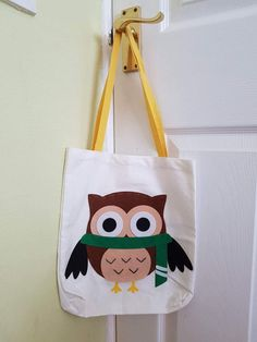 Canvas Owl Bag Owl, Reusable Tote Bags, Handmade Gifts, Canvas, Decor, Handcrafted Gifts, Dekoration, Hand Made Gifts, Decoration