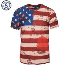 ff12c9c5 America Flag 3D Printed T-Shirt Men Summer Style Short Sleeve Round Collar T  Shirt