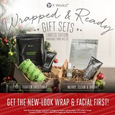 Get the NEW look first! NEW Wrap packaging is available exclusively in the Yule Tighten Greetings Gift Set & NEW Facial packaging is available exclusively in the Merry, Clean, & Bright Gift Set! Everyone's going to be hoping they're on YOUR nice list this year! Are you #WrappedandReady for this holiday season?