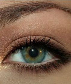 Repinned: Natural Eye Makeup Tutorial. this looks so pretty with that eye color~