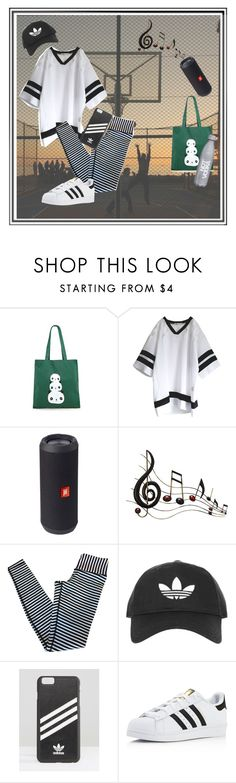 """""""Chillin' at the park 'til the sun goes down..."""" by oliveraelisa ❤ liked on Polyvore featuring Forever 21, JBL, Benzara, lululemon, Topshop and adidas"""