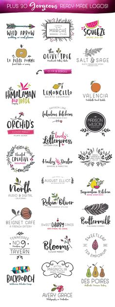 The Hand Illustrated TypeSet | SALE by Callie Hegstrom on @creativemarket