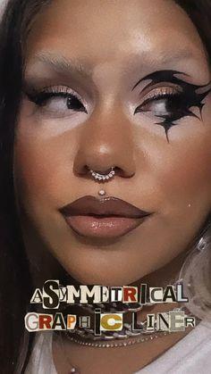 Edgy Makeup, Makeup Eye Looks, Eye Makeup Art, Skin Makeup, Makeup Inspo, Makeup Inspiration, Makeup Ideas, Black Goth Makeup, Witchy Makeup