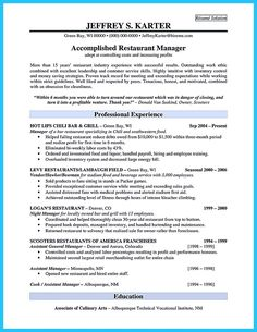 Restaurant Manager Resume Template Business Articles