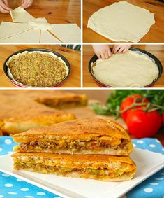 Easy Upside Down Pastry (with video) – Yummy Recipes - Rezepte Ideen Yummy Recipes, Delicious Desserts, Yummy Food, Italian Soup, Italian Dishes, Turkish Recipes, Italian Recipes, Ethnic Recipes, Types Of Sandwiches