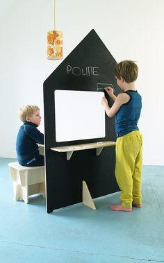 Speelhuis hout FSC duurzaam houten Inke - Retro Baby Shop