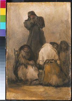 Moine prêchant Goya-