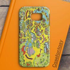 Vintage Walt Disney World Map Fantasyland 1971 Samsung Galaxy S6 Edge Plus Case | casefantasy