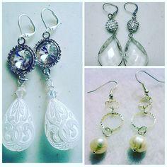 One of a kind handmade custom bridal  earrings #earrings #onlineshopping #followme #jewellerydesign #jewellery #jewellermaking #jewellerydesign #fashion #handmade #jewelleryblog #bridalfashion #bridetobe #bridesmaid #eventplanning #torontobride #bridalstyle #bridal #giftideas #oneofakind #photooftheday #pretty #instalove #custom #oneofakind #moda #shoutout #tagsforlikes #tweegram #picoftheday #wedding #instagram by marykjewels2