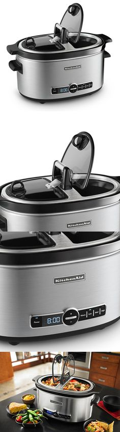 Cookers and Steamers 20672: Kitchenaid Slow Cooker With Easy Serve Glass Lid 6 Quart Stainless No Sales Tax -> BUY IT NOW ONLY: $120.99 on eBay!