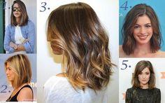 wavy lob haircut thick hair - Google Search