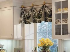 Window Coverings for Kitchen Cabinets With Glass