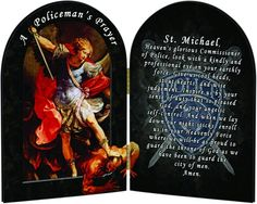 Saint Michael of law enforcement St Michael Prayer, Saint Michael, Police Officer Prayer, Cool Headed, Police Life, Honor Guard, Thin Blue Lines, Law Enforcement, Prayers