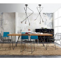 "dylan dining table in dining tables | CB2 | 80"" w X 36  d X 29.5"" h 