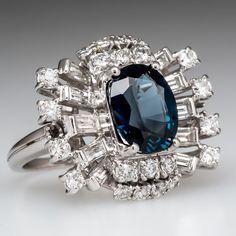 Blue Zircon Cocktail Ring