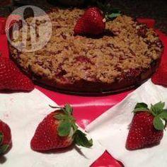 Aardbeien kruimeltaart @ allrecipes.nl