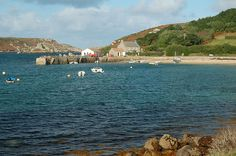 New Grimsby landing pier on the island of Tresco, Isles of Scilly, Cornwall