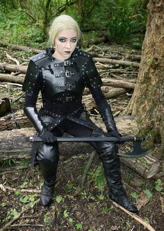 Our garments are not pre-made. They are hand-made, with great attention to details, on receipt of your order!  This stunning Viking Elf Warrior Armour is made of Suede fabric with leather plates and design on it to give it a classy look.  PLEASE NOTE THAT BLACK LEATHER IS NOW IN