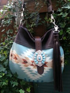 Native American Bag  Leather Purse Adjustable by StarryGarden, $210.00