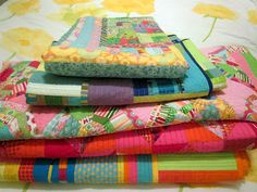 Five Twin quilts