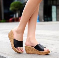Beach Wedge-Heel Quality Women's Fashion Sandals 5 Colors