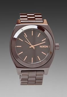 """NIXON """"The Ceramic Time Teller"""" in Chocolate at Revolve Clothing - Free Shipping!"""
