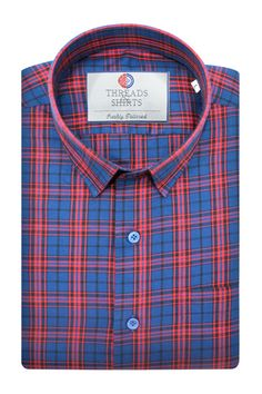 Red Plaid - ₹2,660/-  Red Plaid gives a sober feel to the shirt with hints of red and navy blue in a lovely checkered patterning. #Business #Casual #Shirt #Shirts #Corporate #Fabrics #Luxury#Handcrafted #Custommade #Fashion #Style #Custom #Checks #Solids #Pastels #Checkered #Fun#Quirky #Men #Women #MenFashion #WomenFashion