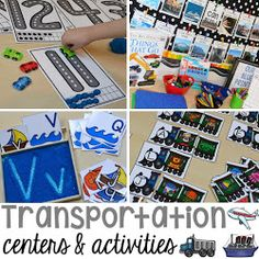 Transportation Centers and Activities (Road Number Mat Freebie too)