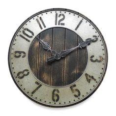 Rustic Punched Metal Wall Clock - BedBathandBeyond.com