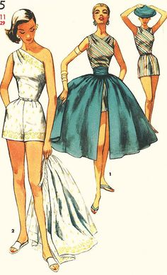 Vintage 1950s Playsuit Pattern Simplicity by ThePatternSource
