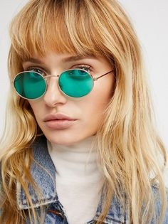 Got A Crush Oval Sunnies | Inspired by decades past, these too cool oval sunnies feature statement lenses in bold hues.  Warning: This product contains a chemical known to the State of California to cause cancer and birth defects or other reproductive harm.