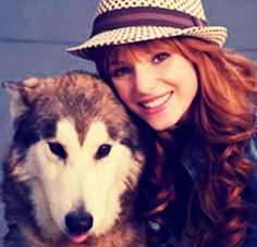 Bella and her dog look so cute together