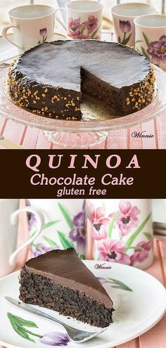 Moist and rich Quinoa Chocolate Cake Gluten-free, easy-to-make. This is something my girls could enjoy.