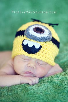 Hey, I found this really awesome Etsy listing at http://www.etsy.com/listing/95224207/minion-hat-from-the-movie-despicable-me