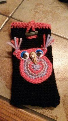 Handytasche Idee aus dem Internet  ohne Anleitung, Bild, Arbeit meins Crochet Necklace, Beanie, Internet, Hats, Jewelry, Hobbies, Tutorials, Dime Bags, Pictures