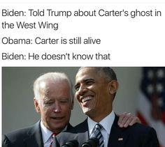 These Hilarious Obama-Biden Memes Are Exactly What The World Needs . Joe And Obama, Obama And Biden, Joe Biden, Fake Words, Funny Memes, Jokes, Political Memes, Politics, Everything Funny