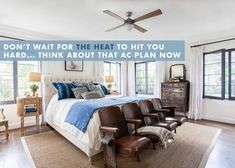 It's going to get HOT (or already is) and thinking about your AC plan is essential. So we have a round up of not ugly fans and AC units. Hygee Home, Spanish Bedroom, Guest Bedroom Decor, Ac Units, Bedroom Paint Colors, Decorating Small Spaces, The Unit, House Design, Bedrooms